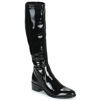 Schoenen Dames Hoge laarzen Adige CELINE V1 VERNIS NOIR Zwart