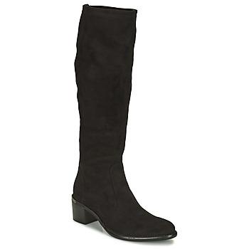 Schoenen Dames Hoge laarzen Adige DIANE V1 CAMOSCIO NOIR Zwart