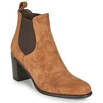Schoenen Dames Hoge laarzen Adige FANY V11 VELOURS HAVANE Brown