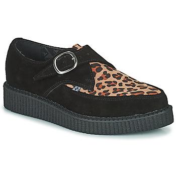 Schoenen Derby TUK POINTED CREEPER MONK BUCKLE Zwart / Leopard