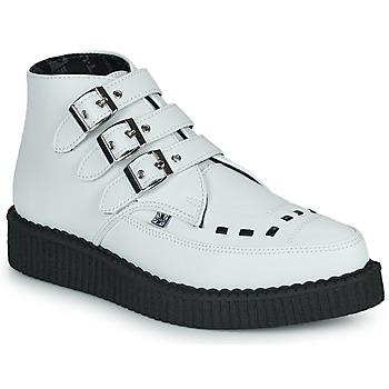 Schoenen Laarzen TUK POINTED CREEPER 3 BUCKLE BOOT Wit