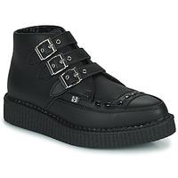 Schoenen Laarzen TUK POINTED CREEPER 3 BUCKLE BOOT Zwart