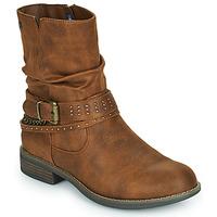 Schoenen Dames Laarzen MTNG 51892-C52072 Cognac