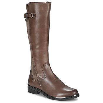 Schoenen Dames Hoge laarzen Caprice 25504-361 Taupe
