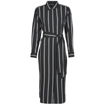 Textiel Dames Lange jurken Lauren Ralph Lauren RYNETTA-LONG SLEEVE-CASUAL DRESS Zwart