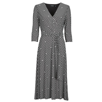 Textiel Dames Lange jurken Lauren Ralph Lauren CARLYNA-3/4 SLEEVE-DAY DRESS Zwart