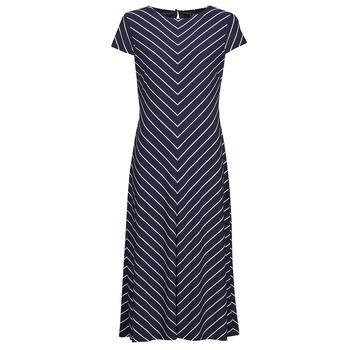 Textiel Dames Lange jurken Lauren Ralph Lauren PIPPA-CAP SLEEVE-DAY DRESS Blauw