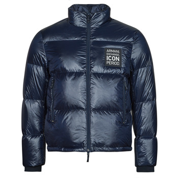 Textiel Heren Dons gevoerde jassen Armani Exchange 8NZBP3 Marine