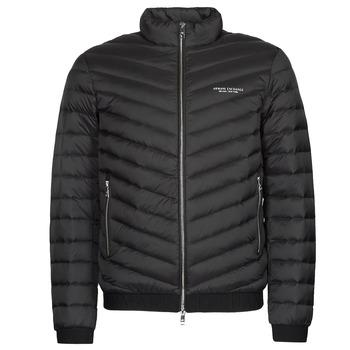 Textiel Heren Dons gevoerde jassen Armani Exchange 8NZB52 Zwart