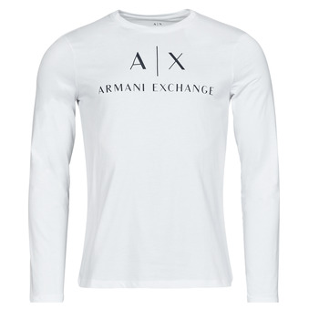 Textiel Heren T-shirts met lange mouwen Armani Exchange 8NZTCH Wit