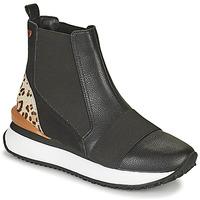 Schoenen Dames Hoge sneakers Gioseppo LUNNER Zwart / Leopard