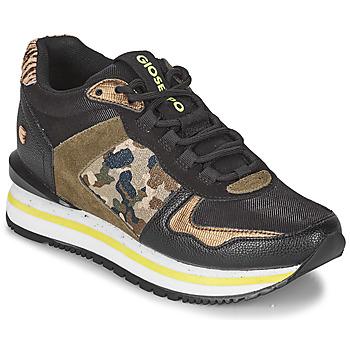Schoenen Dames Lage sneakers Gioseppo GRAZ Zwart / Kaki