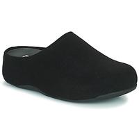 Schoenen Dames Klompen FitFlop SHUV FELT Zwart