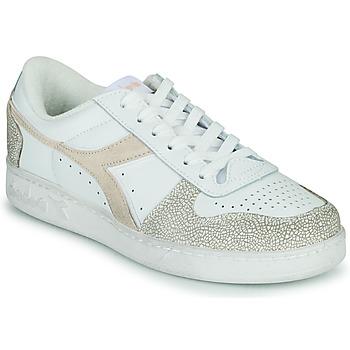 Schoenen Dames Lage sneakers Diadora MAGIC BASKET LOW ICONA WN Wit / Roze