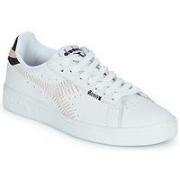 Schoenen Dames Lage sneakers Diadora GAME L LOW ZIG ZAG WN Wit / Roze