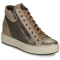 Schoenen Dames Hoge sneakers IgI&CO DONNA SHIRLEY Beige / Goud