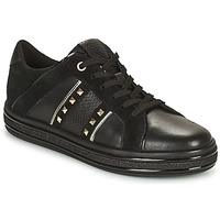 Schoenen Dames Lage sneakers Geox LEELU Zwart