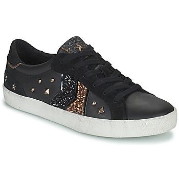 Schoenen Dames Lage sneakers Geox WARLEY Zwart / Goud
