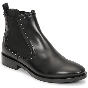 Schoenen Dames Enkellaarzen Geox BROGUE Zwart