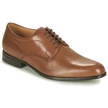 Schoenen Heren Derby Geox IACOPO Brown