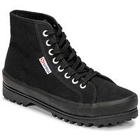 Schoenen Dames Hoge sneakers Superga 2341 ALPINA COTU Zwart