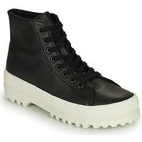 Schoenen Dames Hoge sneakers Superga 2341 ALPINA NAPPA Zwart