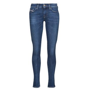Textiel Dames Skinny Jeans Diesel SLANDY-LOW Blauw / Donker