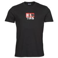 Textiel Heren T-shirts korte mouwen Diesel T-DIEGOS-B10 Zwart