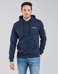 Textiel Heren Sweaters / Sweatshirts Columbia VIEWMONT II SLEEVE GRAPHIC HOODIE Marine / Wit