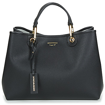 Tassen Dames Handtassen kort hengsel Emporio Armani MYEA BORSA SHOPPING Zwart