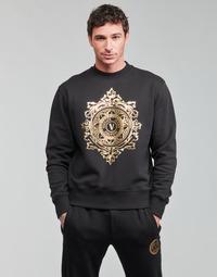 Textiel Heren Sweaters / Sweatshirts Versace Jeans Couture VEMBLEM LEAF Zwart / Goud
