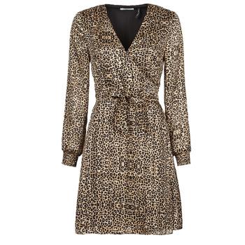 Textiel Dames Korte jurken Les Petites Bombes CECILIE Leopard