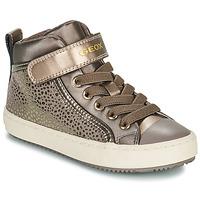 Schoenen Meisjes Hoge sneakers Geox KALISPERA Goud