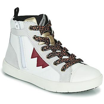 Schoenen Meisjes Hoge sneakers Geox SILENEX Wit