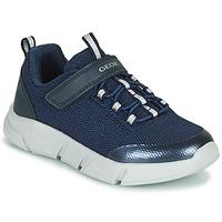 Schoenen Meisjes Lage sneakers Geox ARIL Blauw