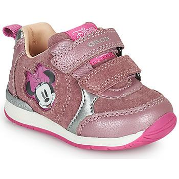 Schoenen Meisjes Lage sneakers Geox RISHO Roze