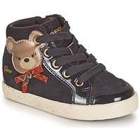 Schoenen Meisjes Hoge sneakers Geox KILWI Zwart