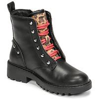 Schoenen Meisjes Laarzen Geox CASEY Zwart