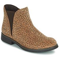 Schoenen Meisjes Laarzen Geox AGATO Brown