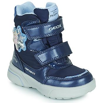 Schoenen Meisjes Snowboots Geox SVEGGEN ABX Marine
