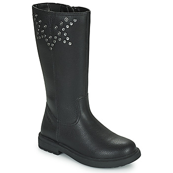 Schoenen Meisjes Hoge laarzen Geox ECLAIR Zwart