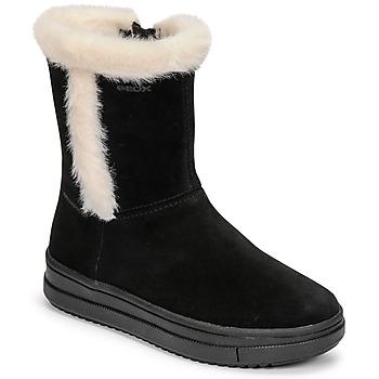 Schoenen Meisjes Hoge laarzen Geox REBECCA Zwart / Wit