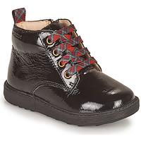 Schoenen Meisjes Laarzen Geox HYNDE Zwart
