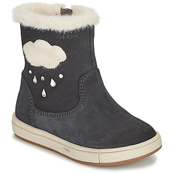 Schoenen Meisjes Hoge laarzen Geox TROTTOLA Zwart