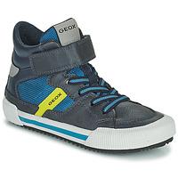 Schoenen Jongens Hoge sneakers Geox ALONISSO Blauw