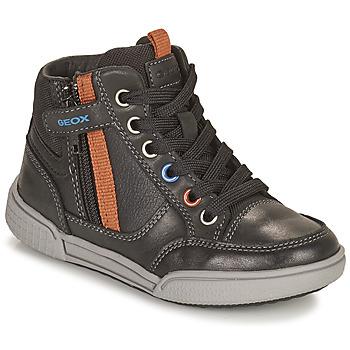 Schoenen Jongens Hoge sneakers Geox POSEIDO Brown