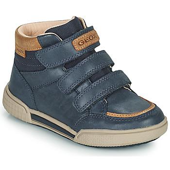 Schoenen Jongens Hoge sneakers Geox POSEIDO Marine