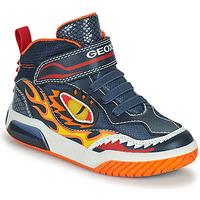 Schoenen Jongens Hoge sneakers Geox INEK Marine / Rood