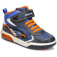 Schoenen Jongens Hoge sneakers Geox INEK Blauw / Orange