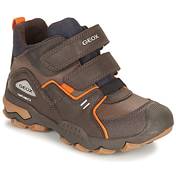 Schoenen Jongens Laarzen Geox BULLER ABX Brown